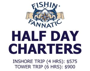 Outer banks fishing charters obx sportfishing trips for Half day fishing trips